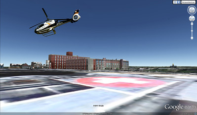 Google earth  Finally found a way to get on the helipad!