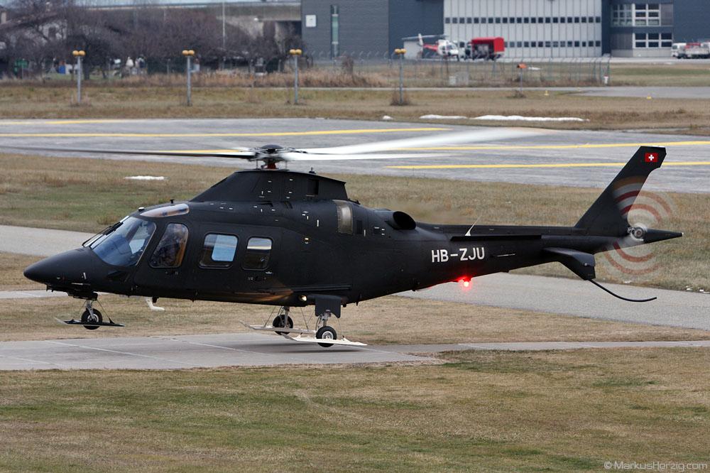 HB-ZJU Agusta A109S Private @ Sion Switzerland 27Dec09
