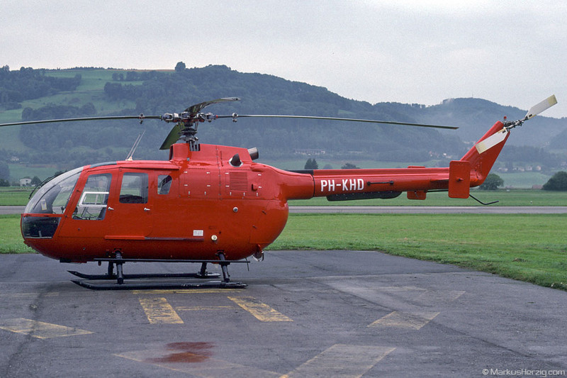 PH-KHD Bo105CBS-4 @ Bern Switzerland 21Aug96 - ex HB-XGM Rega