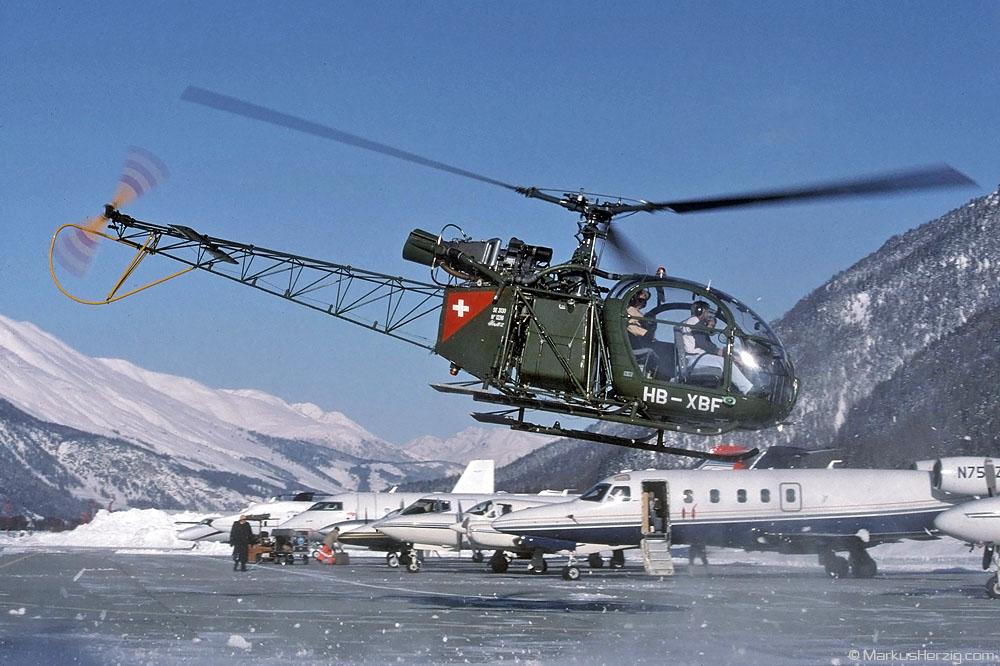 HB-XBF SE3130 Private @ Samedan Switzerland 31Jan99