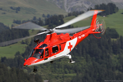 HB-XWH A109K2 Rega @ St.Stephan Switzerland 21Aug10