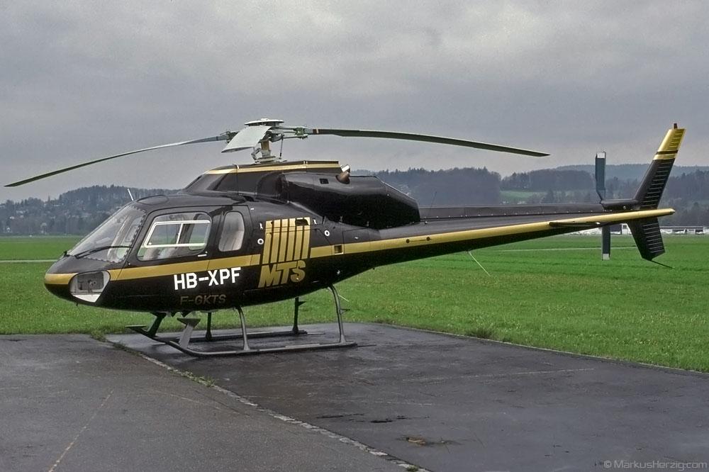 HB-XPF F-GKTS AS355F MTS Helicopter @ Bern Switzerland 11Apr90