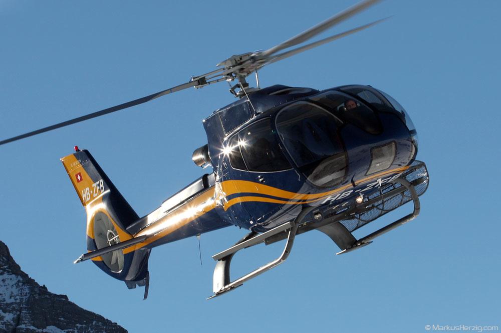 HB-ZFB EC130B4 Farner @ Lauberhorn Switzerland 15Jan05