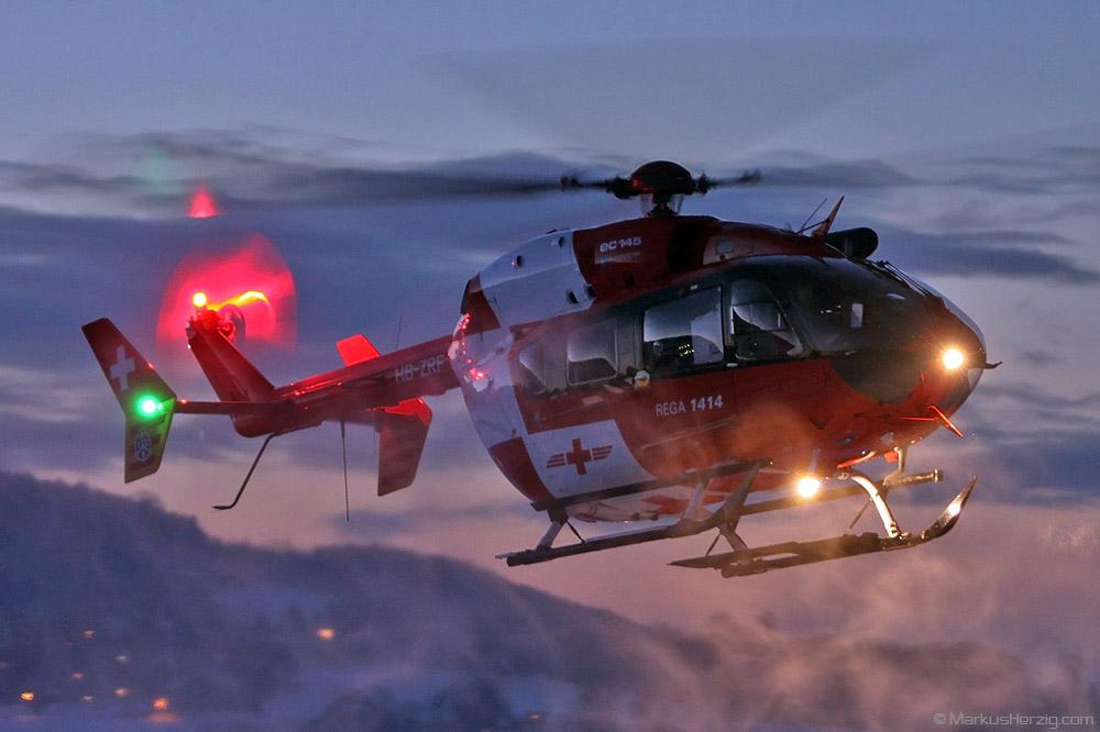 HB-ZRF EC145 Rega @ Bern Switzerland 18Dec10