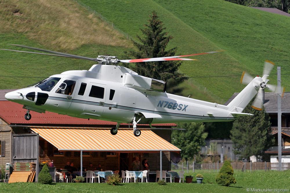 N768SX S-76B Wings Venture @ Saanen Switzerland 20Aug06