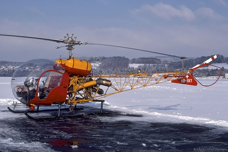 HB-XKY Bell 47G-4A Soloy G&S Air AG @ Bern Switzerland 14Dec90