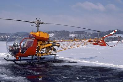 HB-XKY Bell 47G-4A Soloy G&S Air AG @ Bern Switzerland 14Dec90