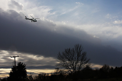 AirCare One inbound to the UIHC from Mechanicsville, Iowa.  Mike Metzger Pilot, with Pat and Jeff on-board.