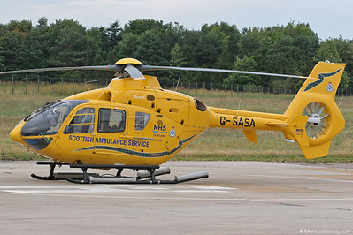 G-SASA EC135T2 Scottish Ambulance Service @ Inverness Scotland 16Jul06