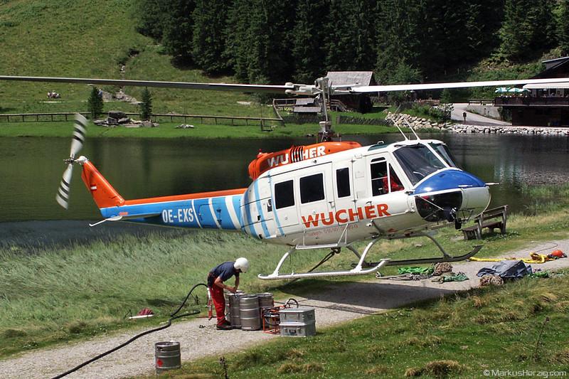 OE-EXS Bell 205A1 Wucher @ Bodensee Austria 10Jul02