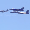 McDonnell Douglas F-15 Eagle, North American P-51, and General Dynamics F-16 fighting Falcon