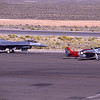 General Dynamics F-16 Fighting Falcon and North American P-51