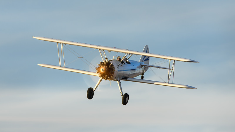 """Keeping the Dinner Crowd Entertained at Stearman Field"""
