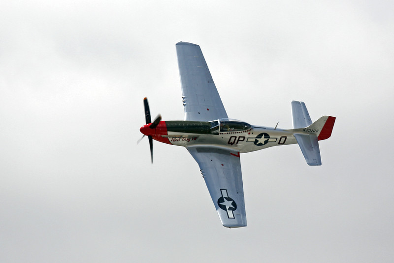 """P-51 Mustang """"Red Dog XII"""" N334FS at the 2012 Hollister Air Show"""