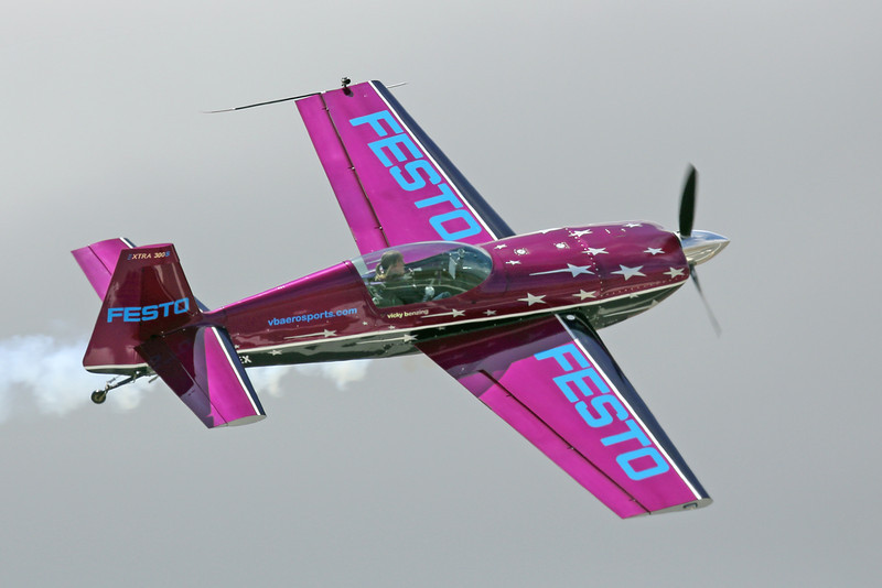 Vicky Benzing in her XTRA 300 at the 2012 Hollister Air Show