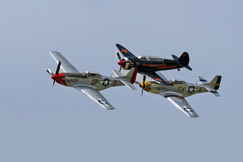 War Bird Flyby at the Hollister CA Air Show, 2012
