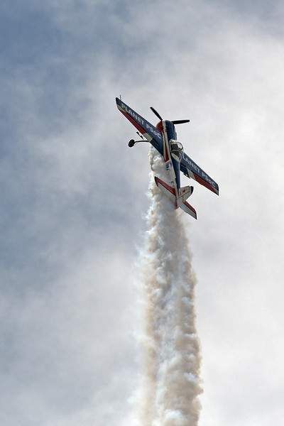 YAKOVLEV YAK-55M N5MS in a vertical climb at the 2012 Hollister Air Show