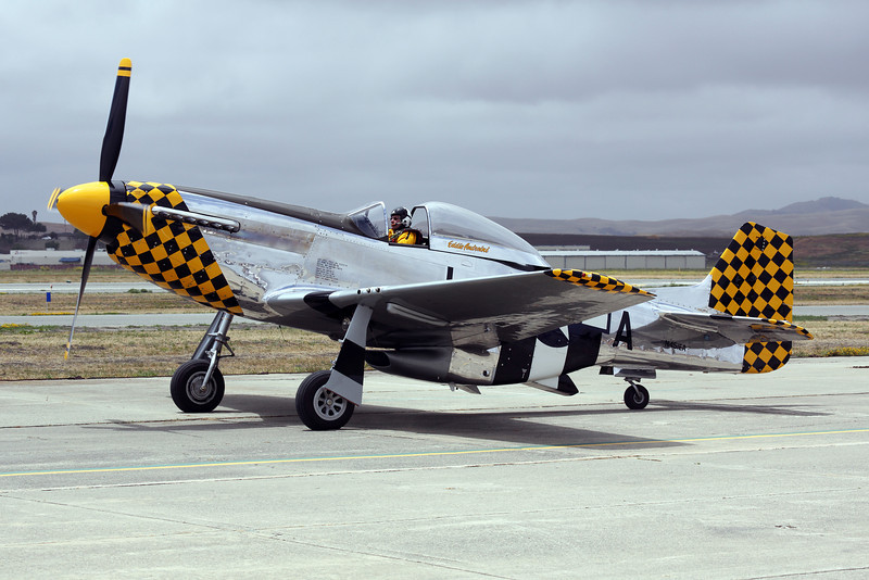 Eddie Andreini's P-51 Mustang N451EA at Hollister CA, 2012