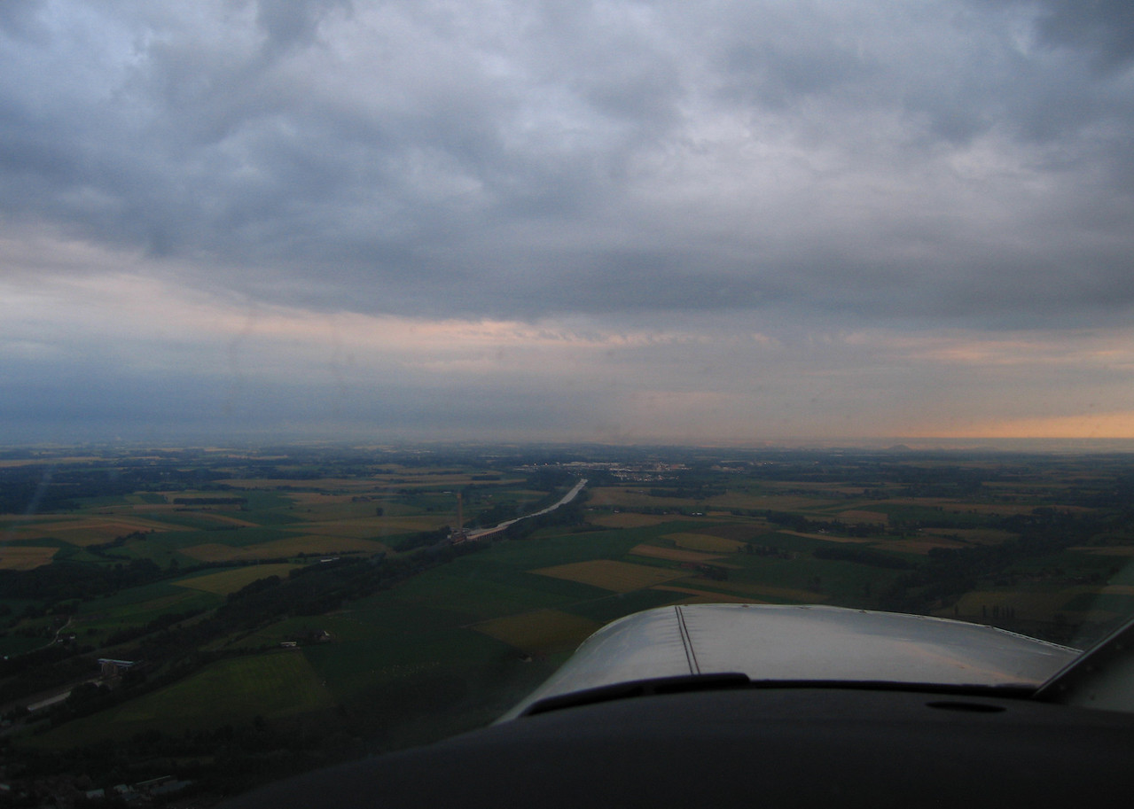 Target straight ahead.  Evening flight to the inclined plane of Ronquières. July 16 2012.