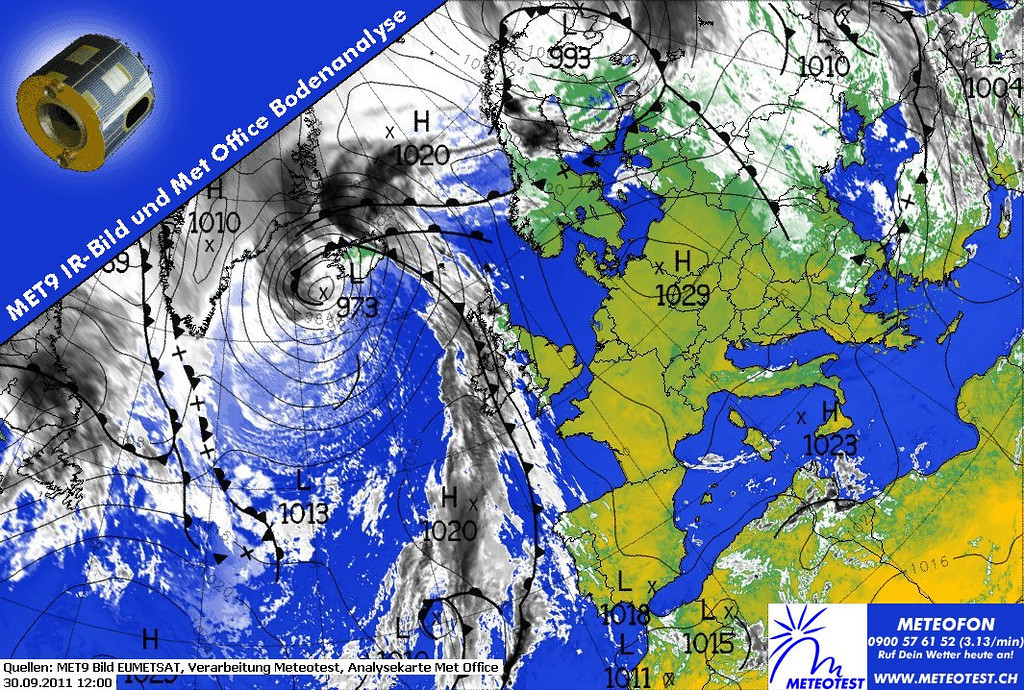 For more than a week, an Indian summer as never seen before is occuring over Europe. This satellite image shows an anticyclone over Central Europe. We have stable, dry air with temperatures up to 28 degrees at the last day of september. Where were you last summer?<br /> <br /> Info courtesy of 2011 EUMETSAT, Meteotest and Met Office.
