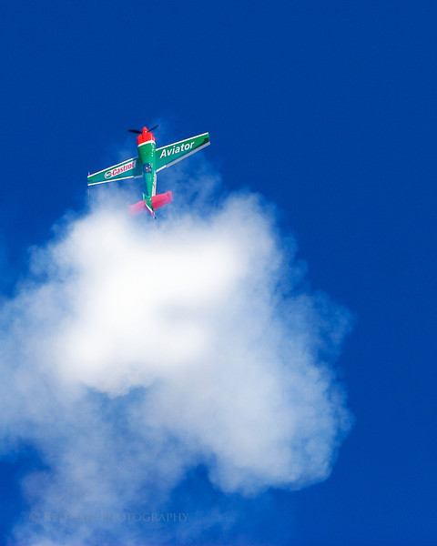 Castrol Aviator. Aerobatic flying by pilot Mike Goullian at the Jacksonville Sea & Sky Spectacular.
