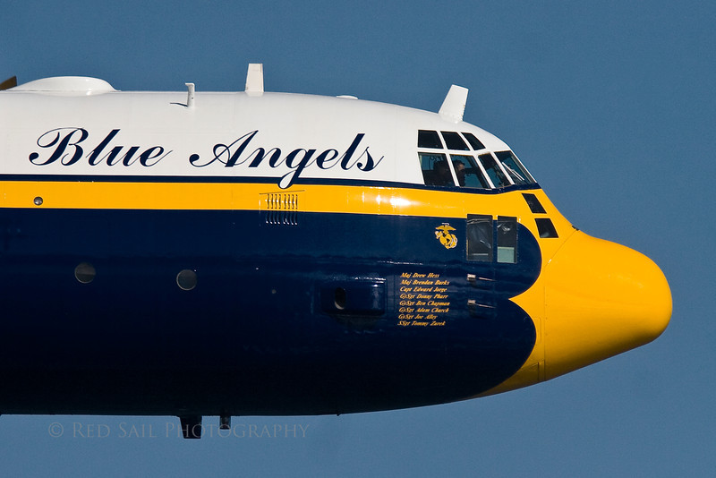 The Blue Angels. Fat Albert is first to perform at the Jacksonville Sea & Sky Spectacular, 2009.