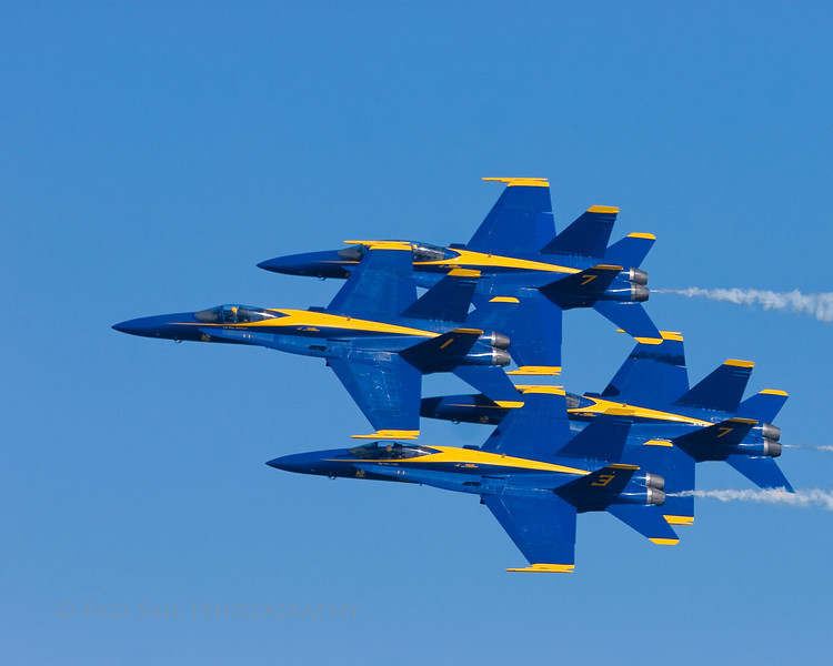 The Blue Angels at Jacksonville Beach, FL.