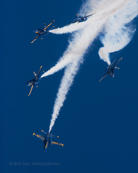 The Blue Angels at Jacksonville Beach, Florida.
