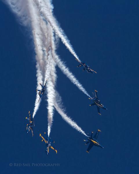 Blue Angels over Jacksonville Beach, Fl.