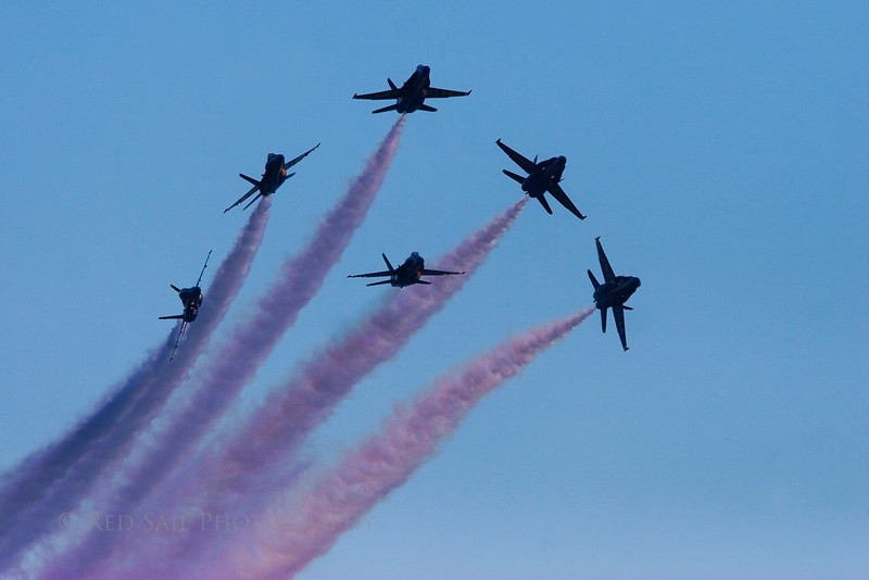"""The Blue Angels at Jacksonville Beach, 2009. """"The Show Begins"""""""