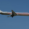 American Airline MD-80 arriving on 13L
