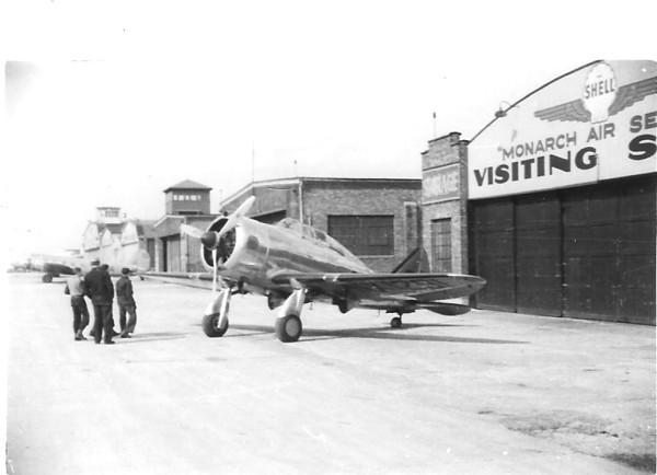 Jimmy Doolittle's Shell Oil Seversky SEV-DS (NX1291 c/n 42) at Chicago's Midway Airport in 1937