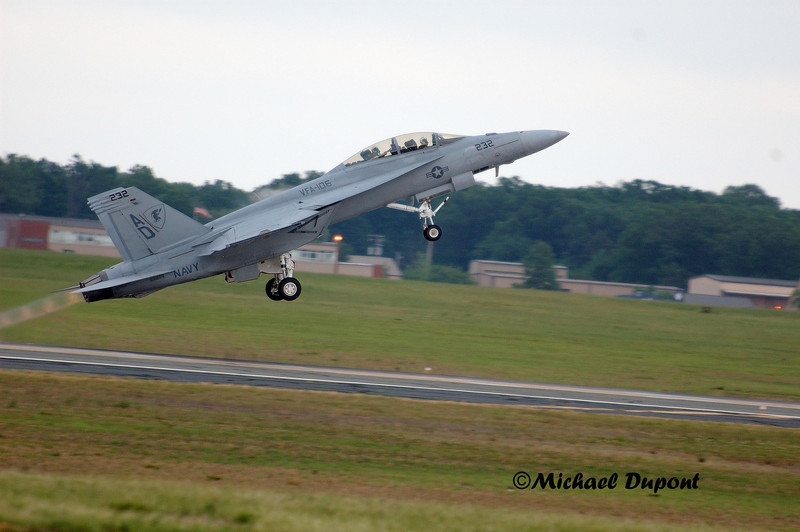 F/A 18 Super Hornet taking off