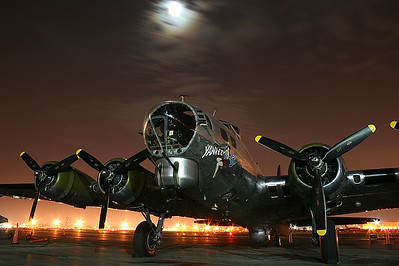 B17 Yankee Lady.   Nighttime photo shoot made possible thanks to the generosity of the American Airpower Museum.