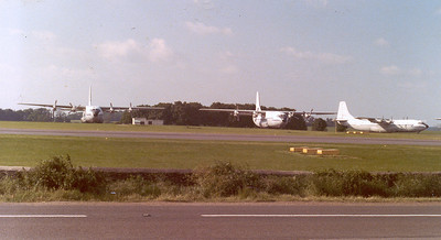 Short Belfast aircraft stored at Kemble c.1977