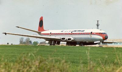 Dan-Air Comet G-APYC stored at Kemble c.1980