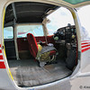 Cessna 182 used for skydiving.<br /> Fisheye shot.