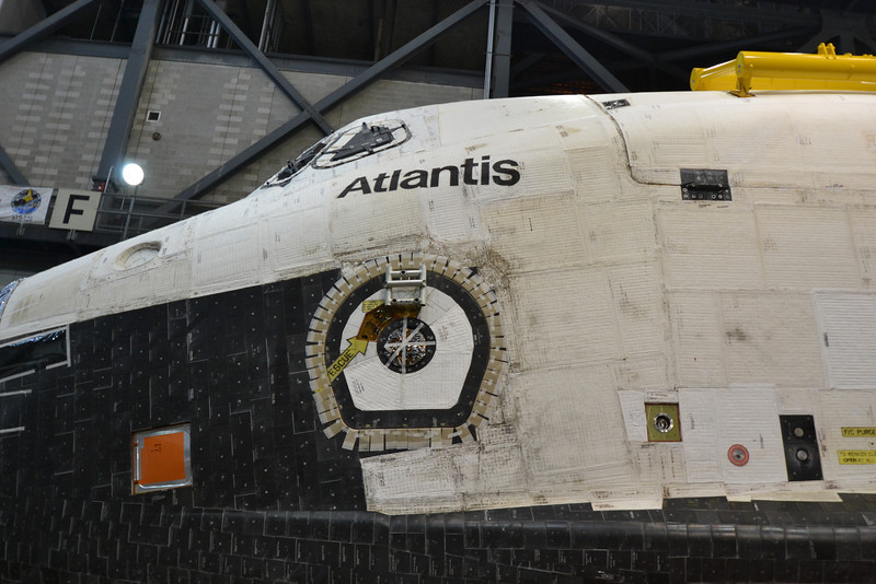 Space Shuttle Orbiter Atlantis. Inside the Vehicle Assembly Building.