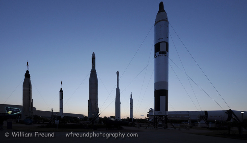 Rocket garden at sunset.
