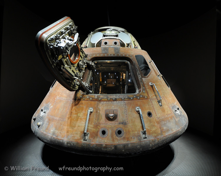 A shot of the capsule used for the Apollo missions.  It carried three astronauts.
