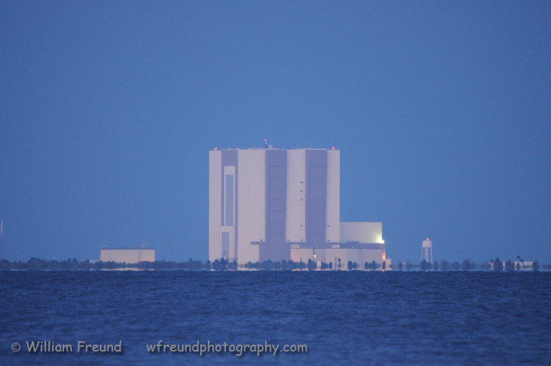 View of the Vehicle Assembly Building from across the Indian river.  Took this shot while we waited for Endeavour to launch on its final mission.