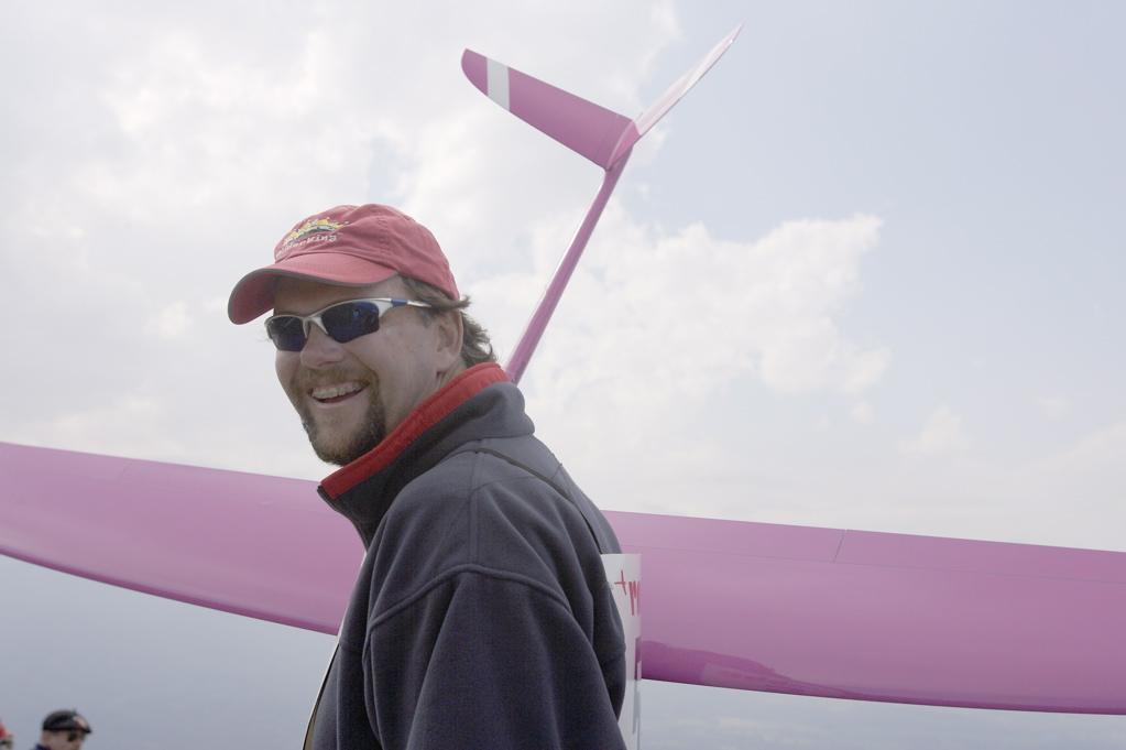 GliderKing Bob Bingham with RaceM