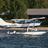 Lakes Region Seaplane Services landing in front of Barton's Motel Saturday July 16th, 2011.