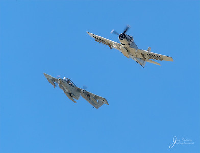Douglas AD-4 Skyraider and OV-10 Bronco