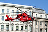 2 June 2011<br /> London Air Ambulance landing at the south end of London Bridge.