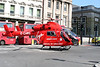 2 June 2011<br /> London Air Ambulance starting up prior to take off at south end of London Bridge.