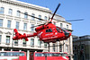 2 June 2011<br /> London Air Ambulance taking off from south end of London Bridge.