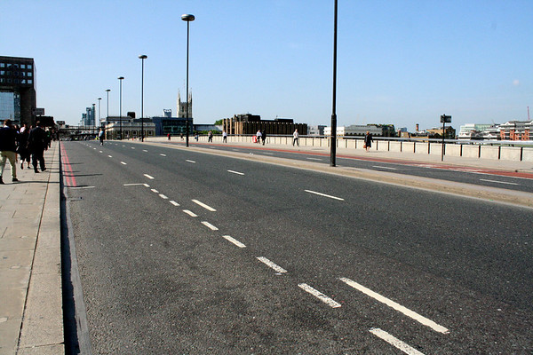 2 June 2011<br /> A traffic-free London Bridge during the morning peak.