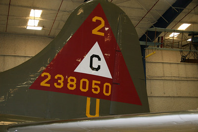 B-17 THUNDERBIRD TAIL SECTION AT LONE STAR FLIGHT MUSEUM.