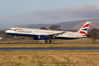 G-EUXG. Airbus A321-231. British Airways. Glasgow. 301214.